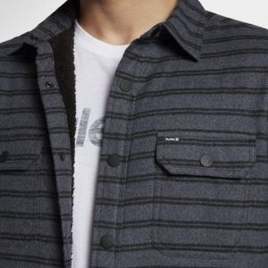 Hurley Dispatch Shacked Mens Jacket - Sherpa Lined